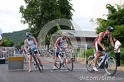 Hua Hin Triathlon competitors Editorial Photo