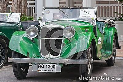 Hua Hin Vintage Car Parade  2011 Editorial Stock Image