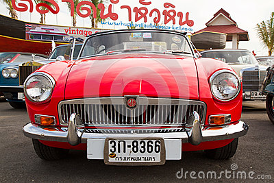 Hua Hin Vintage Cars Parade Festival 2011 Editorial Photo