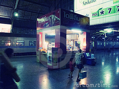 Hua Lamphong Railway Station Editorial Stock Photo