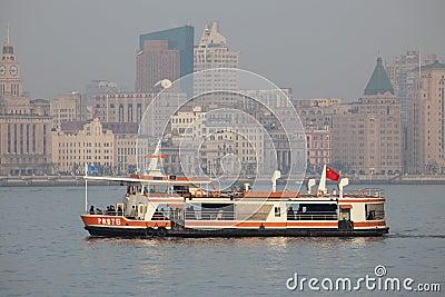 Huangpu River ferry, Shanghai Editorial Photography