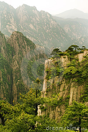 Huangshan china, mountain landscapes
