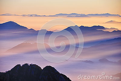 Huangshan(yellow) Mountain sunrise