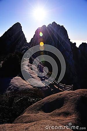 Huangshan(yellow) Mountain sunrise