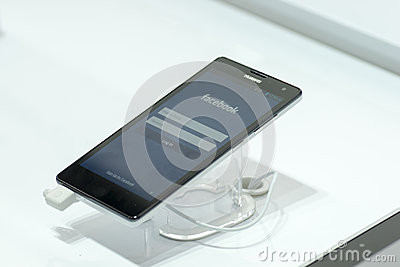 HUAWEI ASCEND G750, MOBILE WORLD CONGRESS 2014 Editorial Image