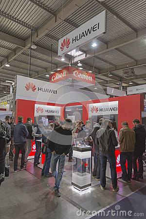 Huawei company booth at cee 2015 the largest electronics for Largest craft shows in the us