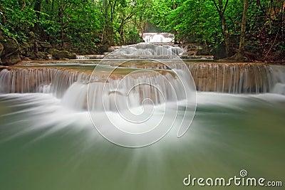 Huay Mae Khamin Waterfall First Level Thailand