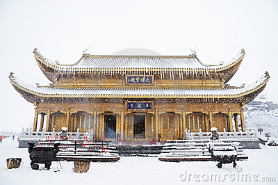 Huazhang temple of MT.Emei Editorial Stock Image