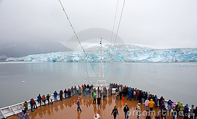 Hubbard Glacier View From Cruise Ship Editorial Stock Image