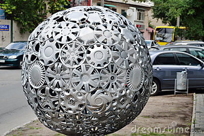 Hubcaps ball Editorial Stock Photo