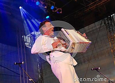 Hubert von Goisern performs on stage Editorial Stock Photo