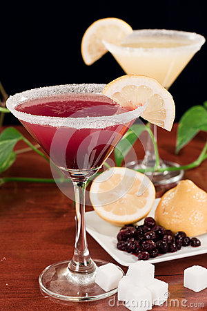 Huckleberry lemon drop martini