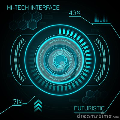 Buttons Funny Sounds >> Hud Futuristic Background Stock Vector - Image: 47722766
