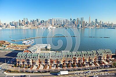 Hudson River, New York City panorama