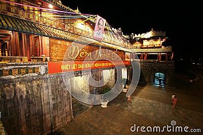 Hue Citadel Vietnam Editorial Image