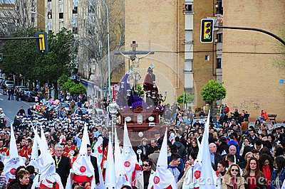 Holy Week on Easter Monday, Andalusia, Spain Editorial Stock Photo