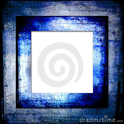 Hues of blues grunge frame