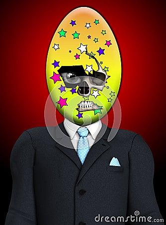 Hombre siniestro del cráneo del huevo de Pascua