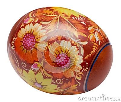 Huevo de Pascua pintado