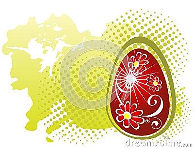 Huevo de Pascua rojo