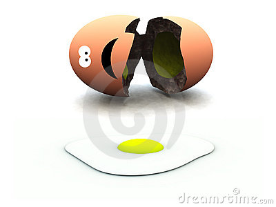 Huevo quebrado 45
