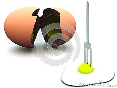 Huevo quebrado 50