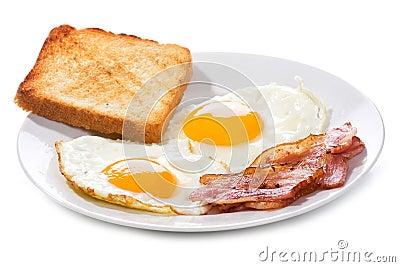 Huevos Con Tocino Huevos Fritos Con Tocino Y