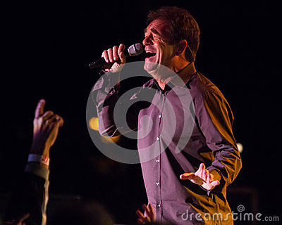 Huey Lewis and The News Live in Bend, Oregon Editorial Stock Image