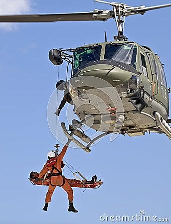 Free Huey UH1-N Medevac Royalty Free Stock Photo - 6978415