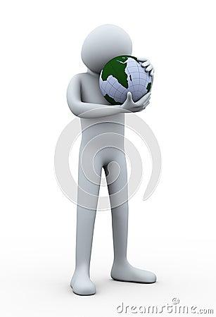 иллюстрация 3d глобуса земли