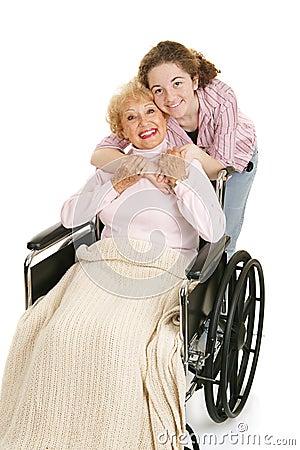 Hug For Grandmother