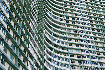 Huge apartment building complex in Havana, Cuba