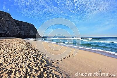 Huge beautiful beach on the Atlantic coast