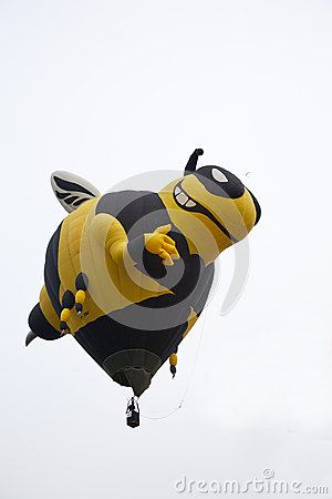 Huge bee balloon taking off Editorial Image
