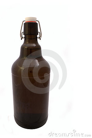 Huge brown beer bottle