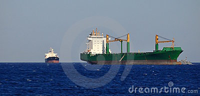 Huge cargo ship