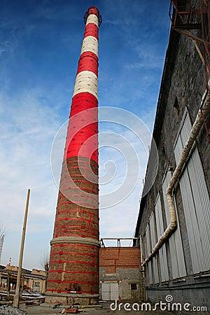 Huge chimney-stalk