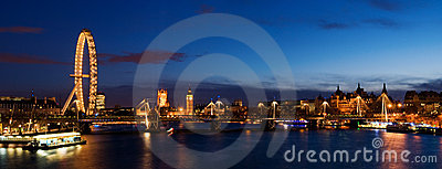 HUGE-City of Westminster at Twilight. Editorial Photography