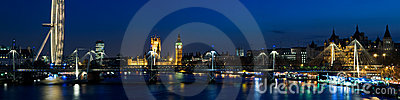 HUGE - City of Westminster  at Twilight ,London. Editorial Image