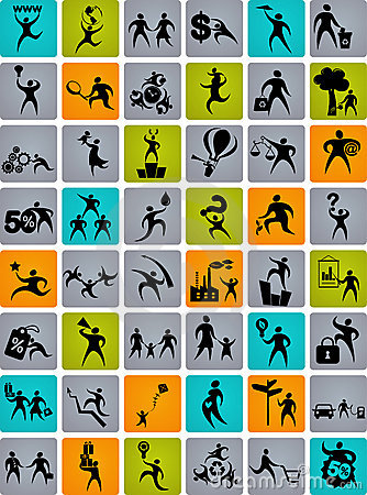 Free Huge Collection Of Abstract People Logos Stock Photography - 12896312
