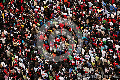 Huge Crowd Editorial Photography