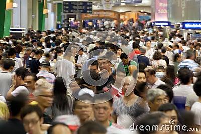 Huge crowds of people Editorial Photo