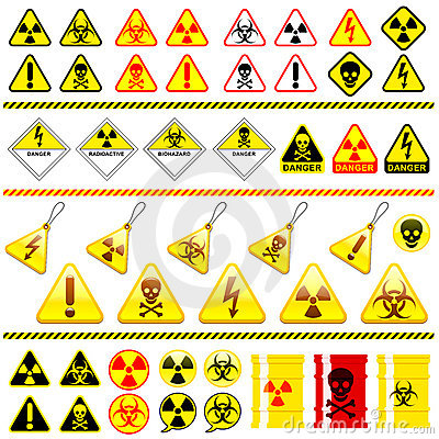 Free Huge Danger Symbol Icon Collection Stock Photo - 11286660