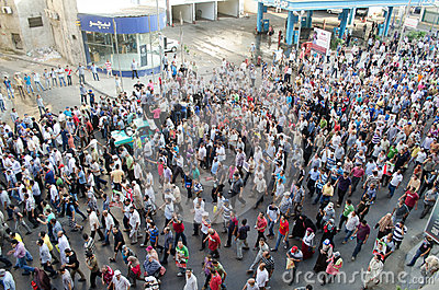 Huge demostrations in support of ousted President Morsi Editorial Photo