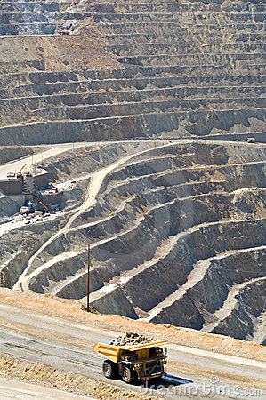Huge Dump Truck In Open Pit Mine Stock Photos Image 10465633