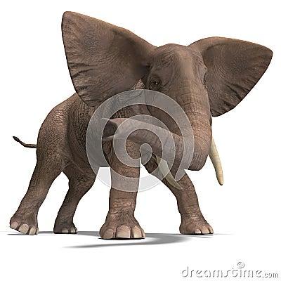 Free Huge Elephant Stock Photography - 9885002