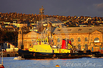 Huge famous dock in Plymouth, UK