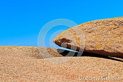Huge granite boulder