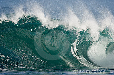Huge Hawaiian wave