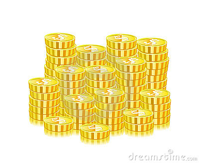 Huge Heap Of Gold Coins